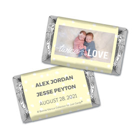 Personalized Bonnie Marcus Birth Announcement Twice the Love Mini Wrappers Only