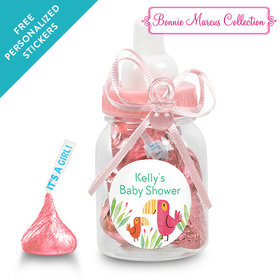 Bonnie Marcus Collection Personalized Pink Baby Bottle - Safari Snuggles (24 Pack)
