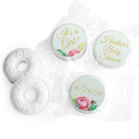 Personalized Bonnie Marcus Baby Shower It's a Girl Floral Life Savers Mints