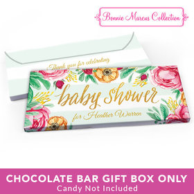 Deluxe Personalized Baby Shower Stripes Candy Bar Favor Box