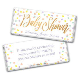 Personalized Bonnie Marcus Baby Shower Confetti Fun Chocolate Bar Wrappers Only