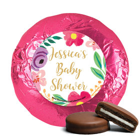 Personalized Bonnie Marcus Baby Shower Fun Floral Milk Chocolate Covered Oreos