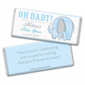 Personalized Bonnie Marcus Baby Shower Elephants Chocolate Bar & Wrapper