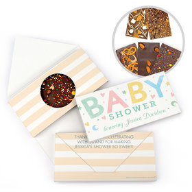 Personalized Bonnie Marcus Baby Shower Colorful Baby Gourmet Infused Belgian Chocolate Bars (3.5oz)