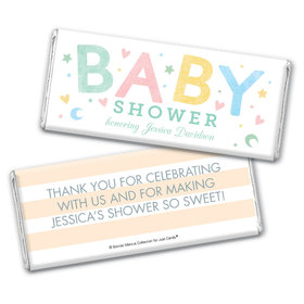 Personalized Bonnie Marcus Baby Shower Sweet Baby Chocolate Bar & Wrapper