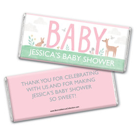 Personalized Bonnie Marcus Baby Shower Forest Fun Chocolate Bar & Wrapper