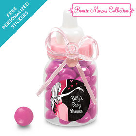 Bonnie Marcus Collection Personalized Pink Baby Bottle - Sprinkling Pink (24 Pack)