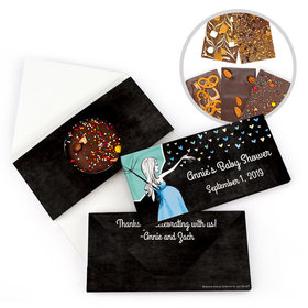 Personalized Bonnie Marcus Baby Shower Sprinkling Gourmet Infused Belgian Chocolate Bars (3.5oz)