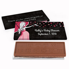 Deluxe Personalized Baby Shower Sprinkling Embossed Chocolate Bar in Gift Box