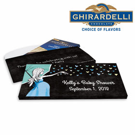 Deluxe Personalized Baby Shower Sprinkling Ghirardelli Chocolate Bar in Gift Box