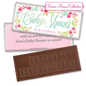 Personalized Bonnie Marcus Honey Wreath Baby Shower Embossed Chocolate Bar & Wrapper