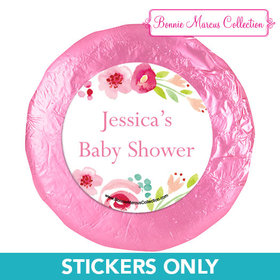 Personalized Bonnie Marcus Honey Wreath Baby Shower 1.25in Stickers (48 Stickers)