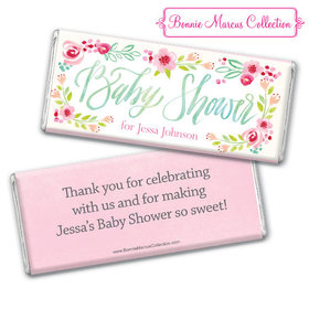 Personalized Bonnie Marcus Baby Shower Honey Wreath Chocolate Bar & Wrapper