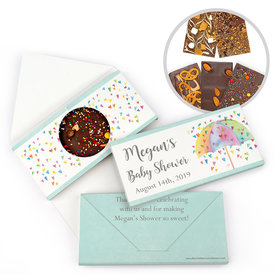 Personalized Bonnie Marcus Baby Shower Heart Shower Gourmet Infused Belgian Chocolate Bars (3.5oz)