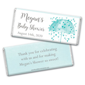 Personalized Bonnie Marcus Baby Shower Heart Shower Chocolate Bar Wrappers Only