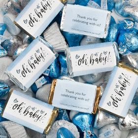 Boy Baby Shower Hershey's Miniatures, Kisses and Reese's Peanut Butter Cups