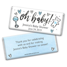 Personalized Bonnie Marcus Baby Shower Icons Chocolate Bar & Wrapper