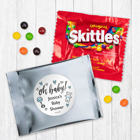 Personalized Baby Shower Oh Baby Skittles