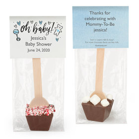 Personalized Bonnie Marcus Baby Shower Baby Icons Hot Chocolate Spoon