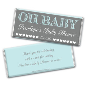 Personalized Bonnie Marcus Baby Shower Oh Baby Chocolate Bar Wrappers Only
