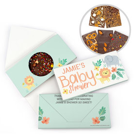 Personalized Bonnie Marcus Baby Shower Safari Fun Gourmet Infused Belgian Chocolate Bars (3.5oz)