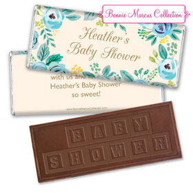 Personalized Bonnie Marcus Blooming Baby Baby Shower Embossed Chocolate Bar & Wrapper