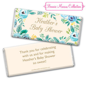 Personalized Bonnie Marcus Baby Shower Blooming Baby Chocolate Bar & Wrapper