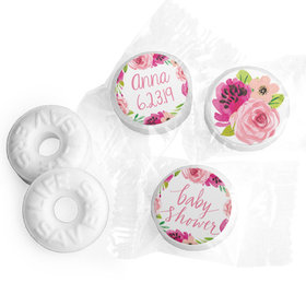Personalized Bonnie Marcus Baby Shower Painted Petals Life Savers Mints