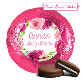 Personalized Bonnie Marcus Painted Petals Baby Shower Milk Chocolate Covered Oreos