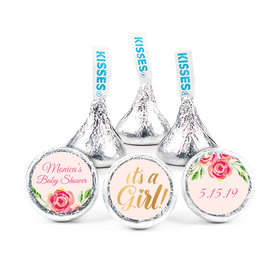"""Personalized Bonnie Marcus Baby Shower Spring Baby 3/4"""" Stickers (108 Stickers)"""