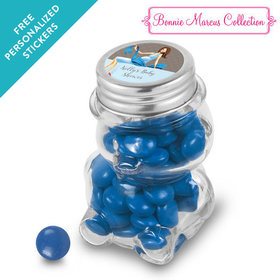 Bonnie Marcus Collection Personalized Bear Jar - Baby Bow (12 Pack)