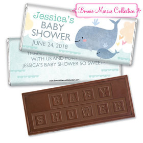 Personalized Bonnie Marcus Baby Shower Baby Whale Embossed Chocolate Bar & Wrapper
