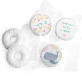 Personalized Bonnie Marcus Baby Shower Baby Whale Life Savers Mints