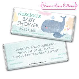 Personalized Bonnie Marcus Baby Shower Baby Whale Chocolate Bar & Wrapper