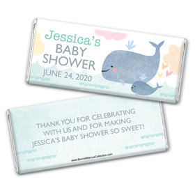 Personalized Bonnie Marcus Baby Shower Baby Whale Chocolate Bar Wrappers