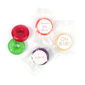 Personalized Bonnie Marcus Baby Shower Pastel Shower LifeSavers 5 Flavor Hard Candy