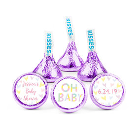 Personalized Bonnie Marcus Baby Shower Pastel Hershey's Kisses (50 pack)