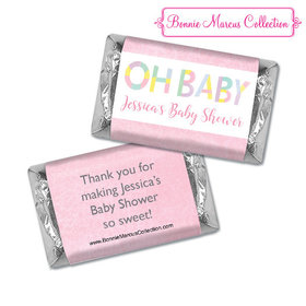 Personalized Bonnie Marcus Baby Shower Hershey's Miniatures Pastel Shower