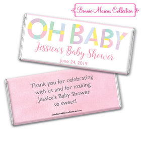 Personalized Bonnie Marcus Baby Shower Pastel Chocolate Bar & Wrapper