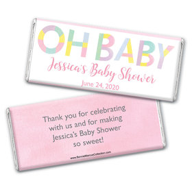 Personalized Bonnie Marcus Baby Shower Pastel Chocolate Bar Wrappers