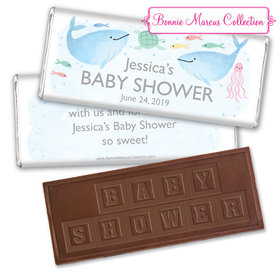 Personalized Bonnie Marcus Baby Shower Under the Sea Embossed Chocolate Bar & Wrapper