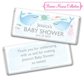 Personalized Bonnie Marcus Baby Shower Under the Sea Chocolate Bar & Wrapper