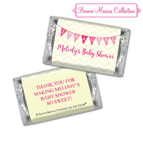 Personalized Bonnie Marcus Chevron Banner Girl Shower Hershey's Miniatures