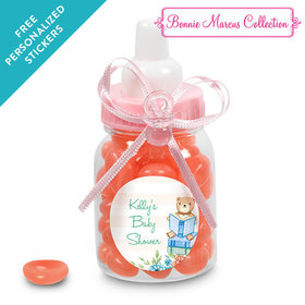 Bonnie Marcus Collection Personalized Pink Baby Bottle - Favors Story Time (24 Pack)