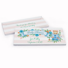 Deluxe Personalized Baby Shower Story Time Chocolate Bar in Gift Box