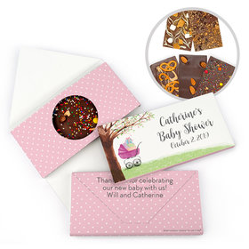 Personalized Bonnie Marcus Baby Shower Rockabye Baby Gourmet Infused Belgian Chocolate Bars (3.5oz)