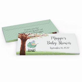 Deluxe Personalized Baby Shower Rockabye Baby Chocolate Bar in Gift Box