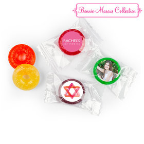 Bat Mitzvah Personalized Solid Pink LifeSavers 5 Flavor Hard Candy (300 Pack)