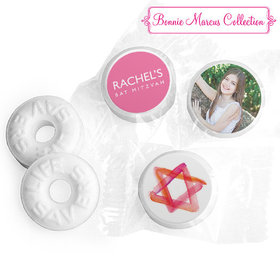 Bat Mitzvah Personalized Solid Pink Life Savers Mints