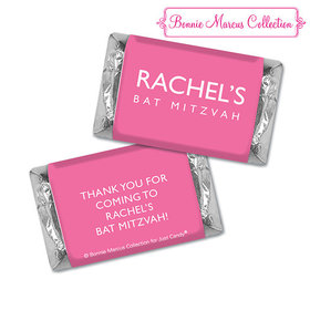 Bat Mitzvah Personalized Solid Pink Hershey's Miniatures